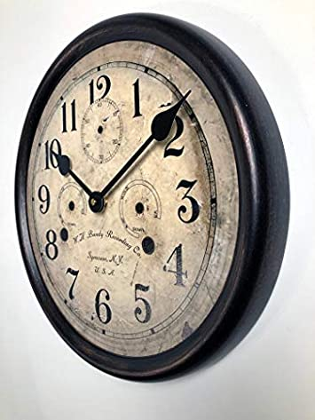 Bundy Wall Clock, Available in 8 Sizes, Most Sizes Ship The Next Business Day,