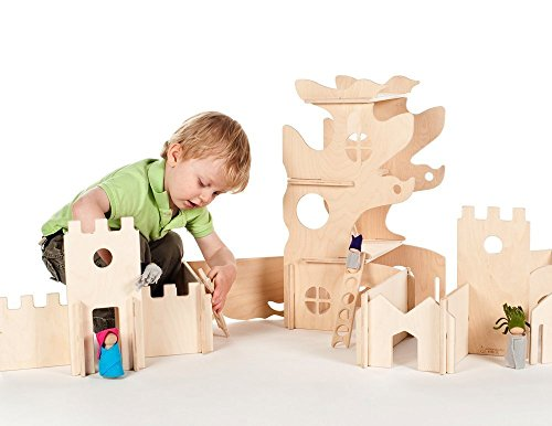 Modular Tree House and Castle Building Walls (Combo set) by Manzanita Kids