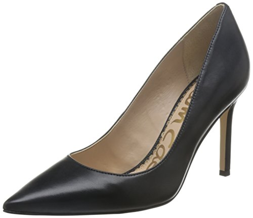 Sam Edelman Women's Hazel Dress Pump, Navy, 10 M US Black (Black Leather)