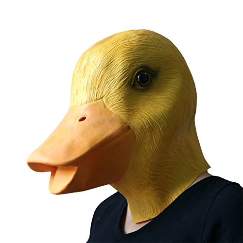 MostaShow Full Head Latex Masks Halloween Masquerade Cosplay Animal Masks Costume Accessory (Duck)