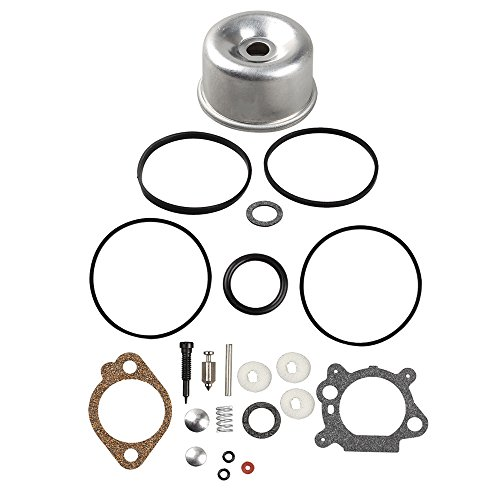 Harbot 493762 Carburetor Float Bowl Seal Ring O Gasket Overhaul Kit for Briggs & Stratton 796611 493640 398191 498260 492495 20-141-1 20-141 Carb Lawn Mover (Briggs & Stratton 498260 Carburetor Overhaul Kit)