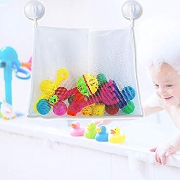 Bad Spielzeug Organizer,Liwein 4 St/ück Badewanne Spielzeugnetz Aufbewahrungstasche Netz Badespielzeug Lagerung mit Saugn/äpfe Gro/ßes Spielzeug Mesh Beutel f/ür Kinder Babys