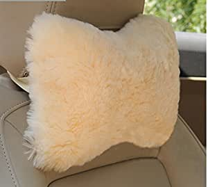 Amazon Com Imqoq Genuine Sheepskin Wool Car Seat Neck