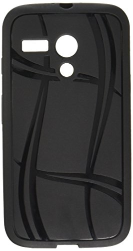 MyBat Basketball Texture Candy Skin Cover for Motorola Moto G - Retail Packaging - Black