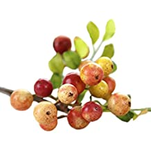 JAROWN 3 pcs Artificial Fruits Rustic Berry Fake Plants Branches for Office Home Decor