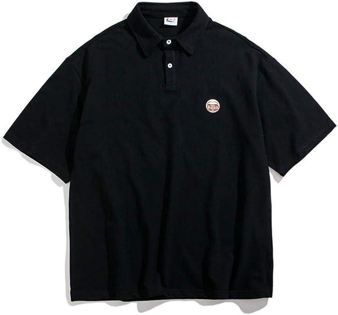 Usopu Camisa Polo de Manga Corta con Letra Suelta para Hombre: Amazon.es: Ropa y accesorios
