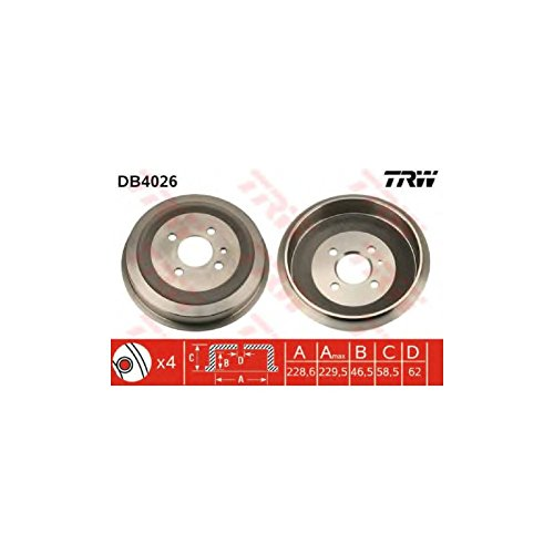TRW DB4026 Brake Drums: