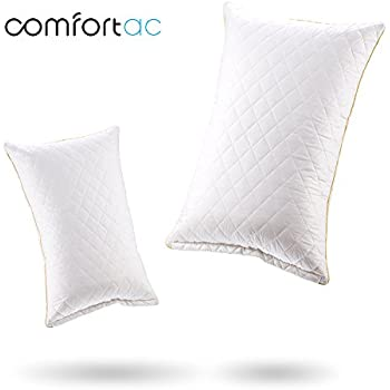 Shredded Memory Foam Pillow by Comfortac, Premium Memory Foam Pillow w/ Removable Vented 100% Cotton Case - Firm & Comfortable Optimum Support, Neck Pain & Headache Relief (Single Pack)