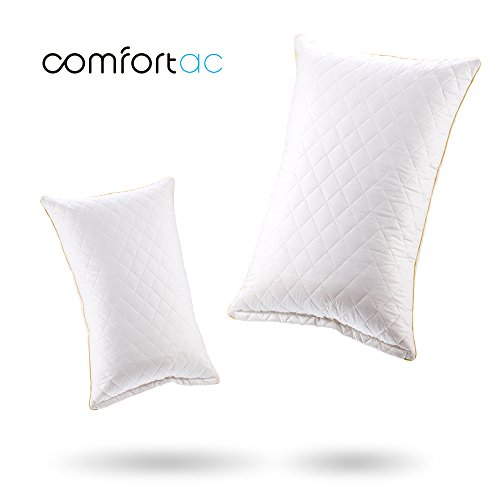 Shredded Memory Foam Pillow by Comfortac, Premium Memory Foam Pillow w/ Removable Vented 100% Cotton Case - Firm & Comfortable Optimum Support, Neck Pain & Headache Relief