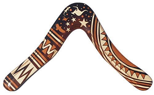 Aussie Fever Wooden Boomerang - Decorated Australian Boomerangs, Made in Australia! by Colorado Boomerangs