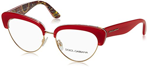 Dolce&Gabbana DG3247 Eyeglass Frames 3034-53 - Top Red/handcart - Glasses Gabbana Eye Dolce