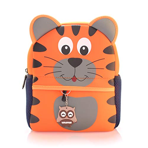 (Lulutus Little Kids Cute Animals Backpack Preschool Bags Waterproof for Toddler Boys)