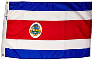 Annin Flagmakers 191832 Nylon Solarguard Nyl-glo Costa Rica Flag, 2 X 3'