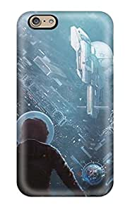 Awesome Spaceship Flip Case With Fashion Design For Iphone 6