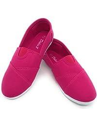 EASY21 Women Canvas Round Toe Slip on Flat Fashion Sneaker