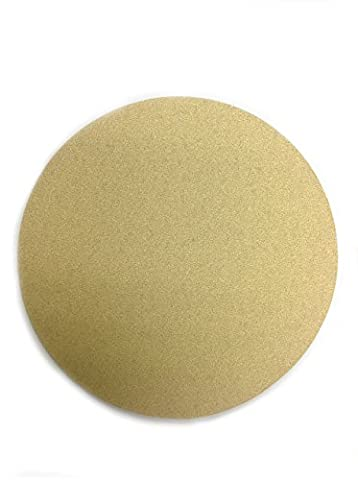 Karebac HS36 PSA Sticky Back Discs in Heavyweight Paper with 36 Grit Gold Aluminum Oxide (Pack of 50), - Grit Grip Disc