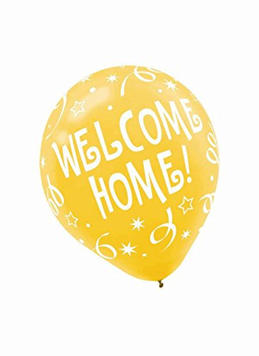 Welcome Home Printed Latex Balloons -6ct
