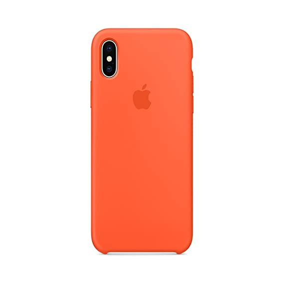 98411014bf489 Keklle iPhone X Silicone Case, Keklle Liquid Silicone Gel Rubber Shockproof  Case and Ultra Soft Microfiber Cloth Lining Cushion for iPhone X/10 (Spicy  ...