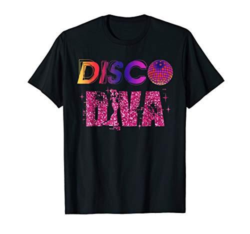 Disco Diva Ladies Dance Ball Retro 70s Costume Party T-Shirt