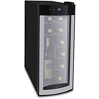 iGloo 12-Bottle Wine Cooler with Curved Glass Door