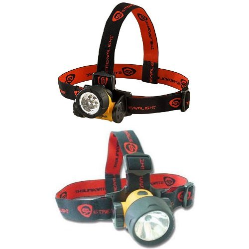 Streamlight Septor LED Headlamp with Strap and Trident Super-Bright LED Multi-Purpose Headlamp