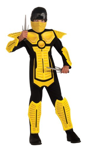 Child's Yellow Ninja Costume, (Mortal Kombat Ninja Costume)