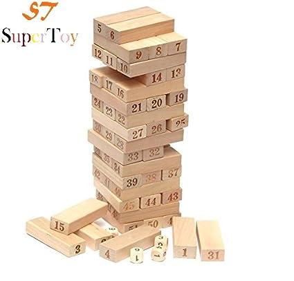 Buy SuperToyTM Wooden 40 Blocks Toy Numbered Building Bricks Extraordinary Wooden Bricks Game