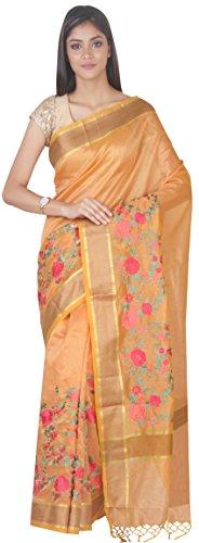 SF Saree Light Orange Blouse Silk Piace With Art SP126660 Simaaya Fashion BqFwtx0Z