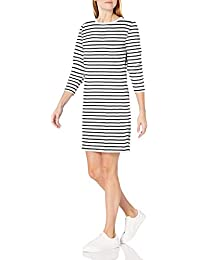 Women's Crewneck Long-Sleeve French Terry Fleece Above-the-Knee Dress