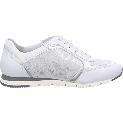 Semler Damen Rosa Sneaker Weiss-Silber