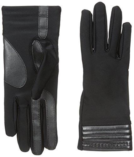UPC 022653711478, Isotoner Women's Smartouch Spandex Glove with Metallic Hem Thermaflex Lining, Black, Medium/Large