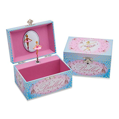 Lucy Locket Ballerina Kids Musical Jewelry Box - Pink and Blue Glittery Musical Box from Lucy Locket
