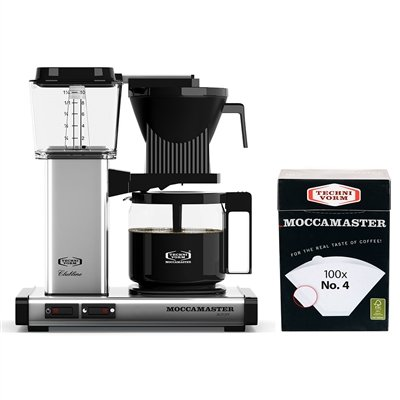 Technivorm Drip Coffee Maker - Technivorm Moccamaster Coffee Maker with Glass Carafe , Black