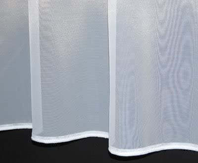 """90/"""" x 1-10 METRES WIDE PLAIN WHITE WEIGHTED BOTTOM NET CURTAIN  LONG DROPS 70/"""""""