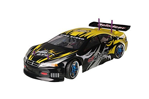 ALEKO 1085 4WD Nitro Powered High Speed On Road Racing Car Vertex 18 CXP, Yellow 1/10 Scale (Nitro Gas Powered Rc Cars compare prices)
