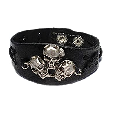 AUTHENTIC HANDMADE Leather Bracelet, Men Women Wristbands Braided Bangle Craft Multi [SKU001965]