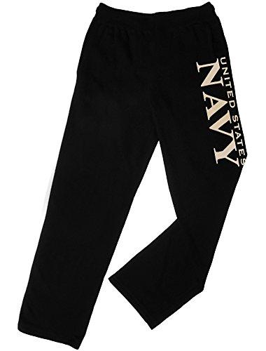 Sweatsuit Navy - Open bottom sweatpants US Navy B&W Black Large