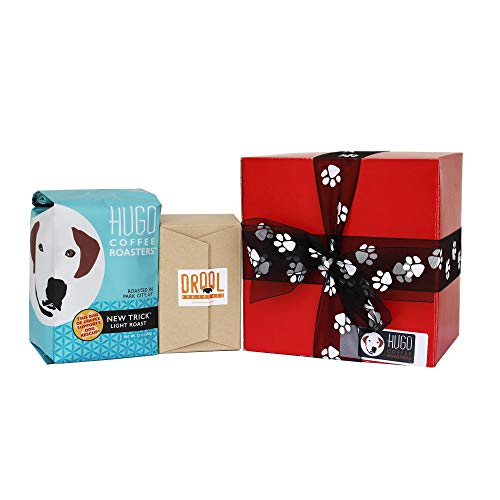 Hugo Coffee | Dog Treat & Coffee Gift Set | Dog Lover Gifts For Women, Men, Their Canine Companions, Includes 12 Ounces Of New Trick Light Roast & Homemade Dog Treats (Red)]()