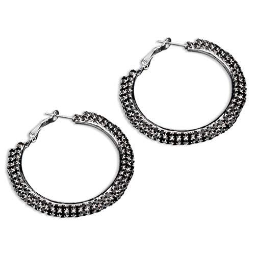 Myhouse Exquisite Double Row Claw Rhinestone Chain Drill Female,Black