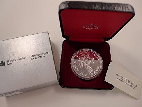 1983 CA Canada Silver Dollar Proof 50% Silver Universiade – Edmonton Commemorative $1 Mint State