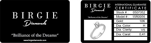 Birgie Diamants et Bijoux -Boucles d'Oreilles Diamants-Femme- or Blanc 204E0055