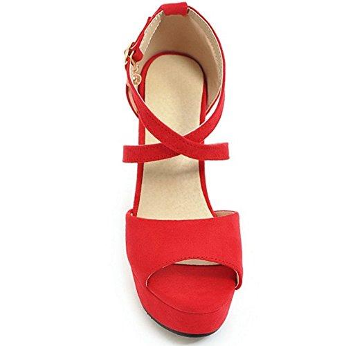 Mode Sandales Red Plateforme Femmes 85 Hauts RAZAMAZA Talons 1xTqg5