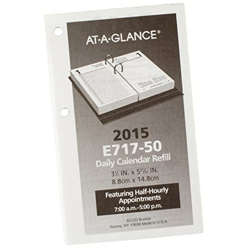 New AT-A-GLANCE Daily Desk Calendar Refill 2015, 3.5 x 6 Inch Page Size (E717-50) hot sale