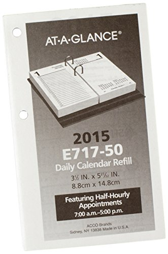 AT-A-GLANCE Daily Desk Calendar Refill 2015, 3.5 x 6 Inch Page Size (E717-50) (Calendar 2015 Desk Daily)