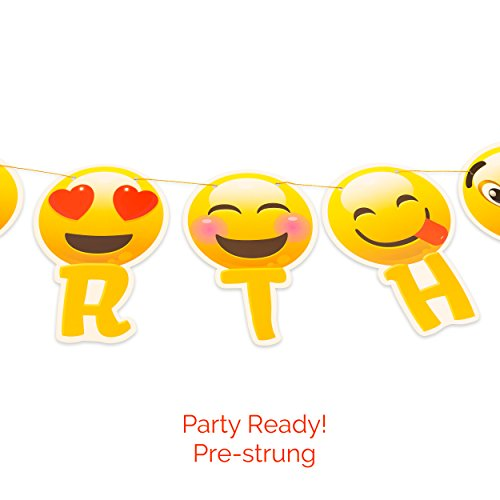 Hot Sale Happy Birthday Banner Emoji With Garland Strip