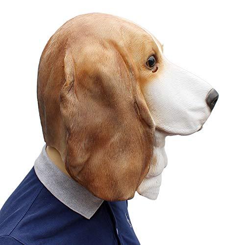 6cdd3f21076 MaiYi Novelty Latex Animal Head Mask Halloween Cosplay Party Dog Masks Props