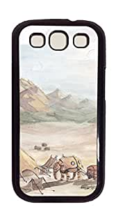 Design Hard Skin Case Cover Shell for Mobilephone case for samsung I9300 - watercolor landscape painting1