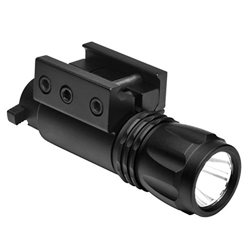 NcSTAR Mini Tactical Flashlight with Tactical Rail Mount