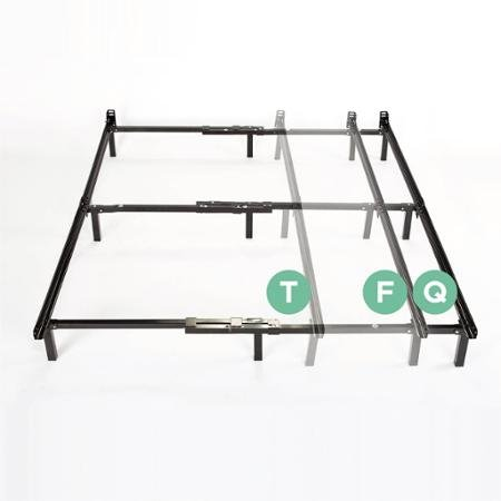Compack 7'' Adjustable Metal Bed Frame for Twin, Full,or Queen Box Spring