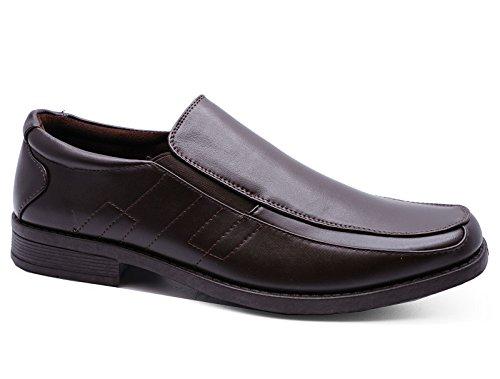 Heelzohigh Mens Brown Slip-On Work Wedding Smart Casual Loafers Comfort Shoes Sizes 7-12 8Yo8dJQ